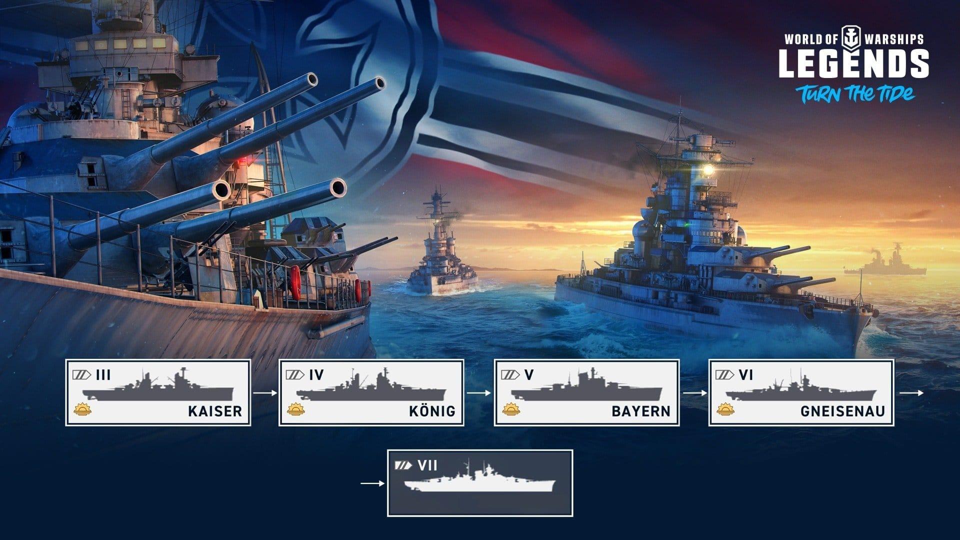 World of Warships: Legends, Update und Tirpitz Kampagne   PIXEL
